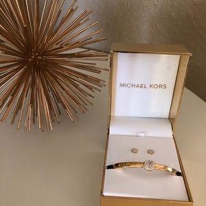 Michael Kors Pave Bracelet and Earring Set